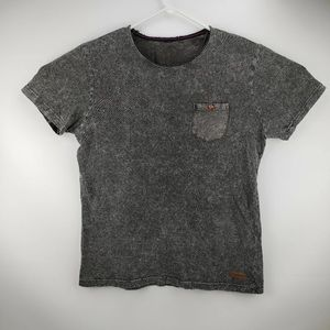 Vintage WT02 Men's Acid Wash T-Shirt Gray Size L